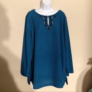 Dana Buchman Tops - Dana Buchman Blue Long Sleeve Shirt B2